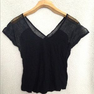 Express Lacy shoulder Top